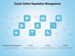Doctor Online Reputation Management Ppt Powerpoint Presentation Infographic Template