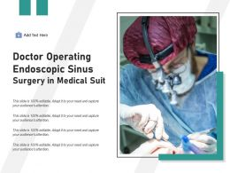 Doctor Operating Endoscopic Sinus Surgery In Medical Suit