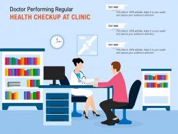 Doctor Performing Regular Health Checkup At Clinic