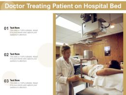 Doctor Treating Patient On Hospital Bed