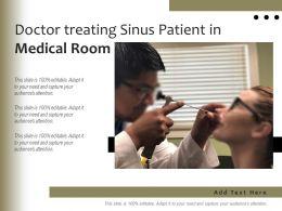 Doctor Treating Sinus Patient In Medical Room
