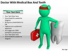 Doctor With Medical Box And Tooth Ppt Graphics Icons Powerpoint