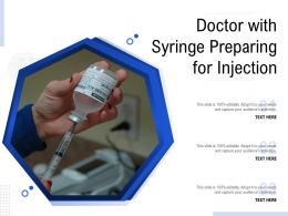 Doctor With Syringe Preparing For Injection