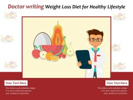 Doctor Writing Weight Loss Diet For Healthy Lifestyle
