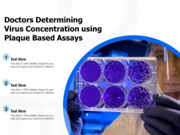 Doctors Determining Virus Concentration Using Plaque Based Assays