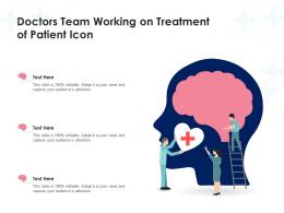 Doctors Team Working On Treatment Of Patient Icon