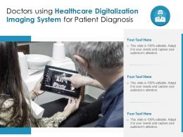 Doctors Using Healthcare Digitalization Imaging System For Patient Diagnosis