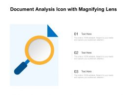 Document Analysis Icon With Magnifying Lens