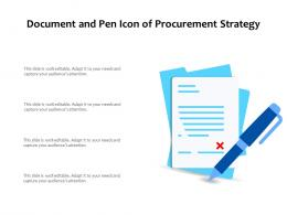 Document And Pen Icon Of Procurement Strategy