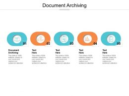 Document Archiving Ppt Powerpoint Presentation Layouts Example Topics Cpb