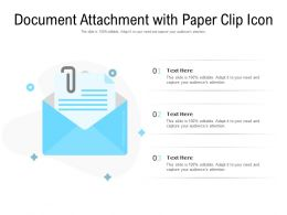 Document Attachment With Paper Clip Icon