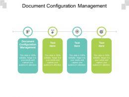 Document Configuration Management Ppt Powerpoint Presentation Professional Graphics Cpb