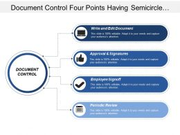 Document Control Four Points Having Semicircle Shaped