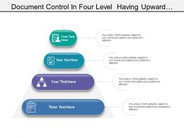 Document Control In Four Level Having Upward Pyramid