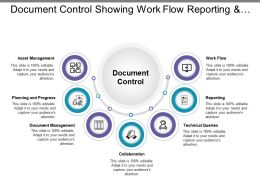 Document Control Showing Work Flow Reporting And Collaboration