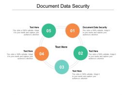 Document Data Security Ppt Powerpoint Presentation Design Templates Cpb
