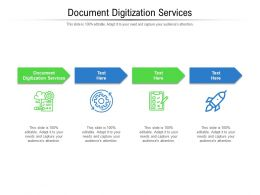 Document Digitization Services Ppt Powerpoint Presentation Ideas Images Cpb