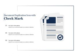 Document Duplication Icon With Check Mark