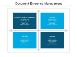 Document Enterprise Management Ppt Powerpoint Presentation Gallery Rules Cpb