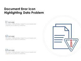 Document Error Icon Highlighting Data Problem