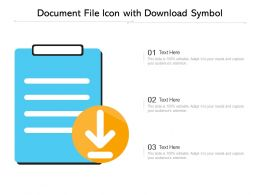 Document File Icon With Download Symbol
