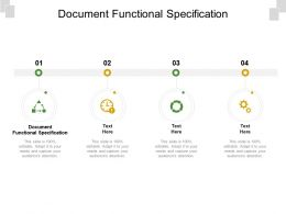 Document Functional Specification Ppt Powerpoint Presentation Ideas Grid Cpb