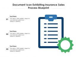 Document Icon Exhibiting Insurance Sales Process Blueprint