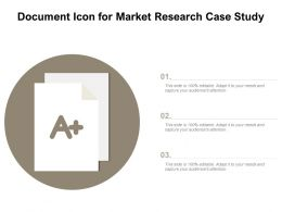 Document Icon For Market Research Case Study
