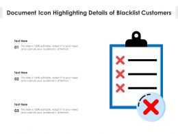 Document Icon Highlighting Details Of Blacklist Customers