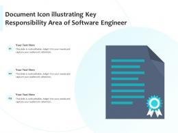 Document Icon Illustrating Key Responsibility Area Of Software Engineer