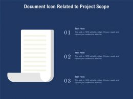 Document Icon Related To Project Scope