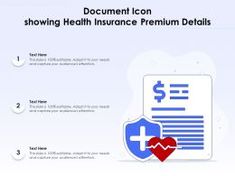 Document Icon Showing Health Insurance Premium Details