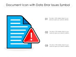 Document Icon With Data Error Issues Symbol