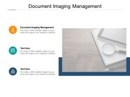Document Imaging Management Ppt Powerpoint Presentation Layouts Cpb