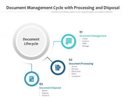 Document Management Cycle With Processing And Disposal