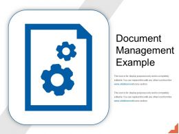 Document Management Example PPT Model