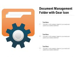 Document Management Folder With Gear Icon