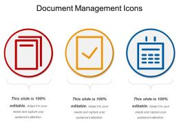 Document Management Icons Ppt Sample