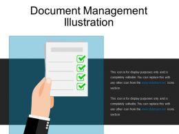 Document Management Illustration Ppt Samples