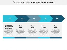 Document Management Information Ppt Powerpoint Presentation Infographics Graphics Example Cpb