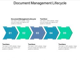 Document Management Lifecycle Ppt Powerpoint Presentation Gallery Ideas Cpb