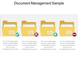 Document Management Sample Ppt Summary