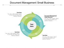 Document Management Small Business Ppt Portfolio Graphics Cpb