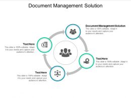 Document Management Solution Ppt Powerpoint Presentation Show Ideas Cpb