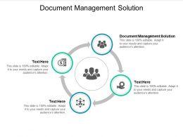 Document Management Solution Ppt Powerpoint Presentation Show Ideas Cpb