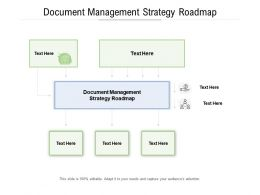 Document Management Strategy Roadmap Ppt Powerpoint Presentation Infographic Template Format Ideas Cpb