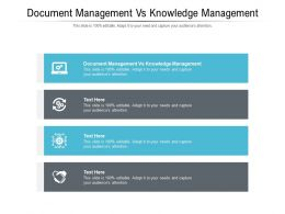 Document Management Vs Knowledge Management Ppt Powerpoint Presentation Gallery Guide Cpb