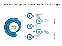 Document Management With Active And Inactive Stages