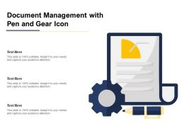Document Management With Pen And Gear Icon