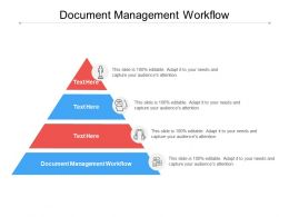 Document Management Workflow Ppt Powerpoint Presentation Summary Graphics Cpb